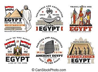 古代, エジプトのピラミッド, 旅行, 神, ランドマーク