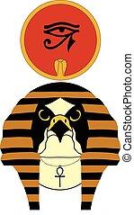 古代, エジプトの神, イラスト, ベクトル, ra