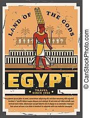 古代, エジプト人, エジプト, 旅行, pharaoh., 観光事業