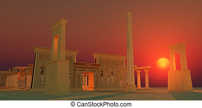古代, エジプト人, 寺院
