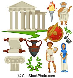 古代, シンボル, 文化, ローマ, 旅行, ギリシャ, 歴史