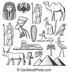 古代, スフィンクス, ファラオ, エジプト人, ミイラ, ピラミッド