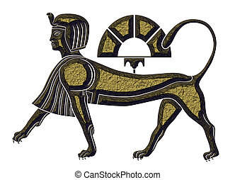 古代, スフィンクス, 神話である, エジプト, -, 生きもの