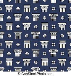 古代, パターン, seamless, ギリシャ語, ローマのコラム