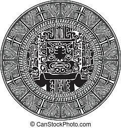 古代, ベクトル, pattern., イラスト