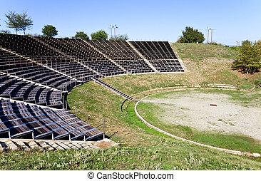 古代, 剧院, 在, dion, 希腊
