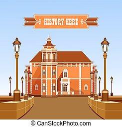 古代, 大邸宅, ベクトル