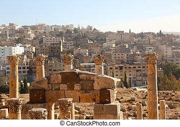 古代, 家, ローマ人, 背景, 台なし, 光景