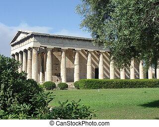 古代, 寺院, ギリシャ