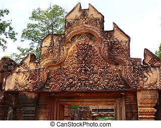古代, 寺院, cambodia.