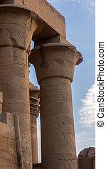 古代, 彫像, エジプト, 台なし, 寺院, コラム