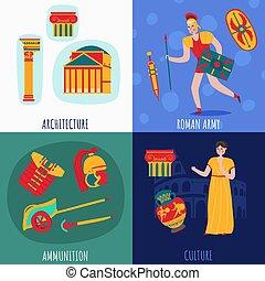 古代, 概念, デザイン, ローマ