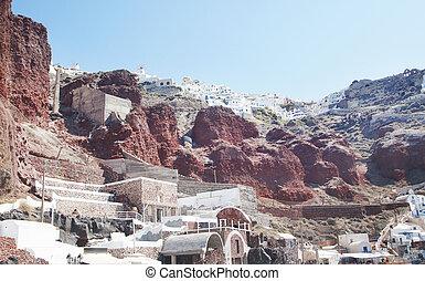 古代, 歴史的, 和解, 光景, ギリシャ, hill.