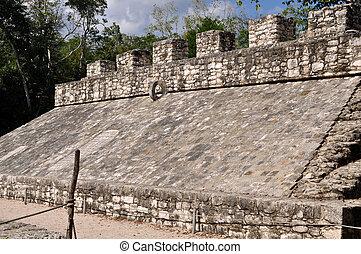 古代, 法廷, メキシコ\, mayan, ゲーム, coba, 台なし