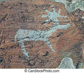 古代, 絵画, 岩