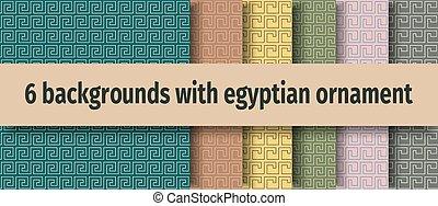 古代, 背景, seamless, エジプト人