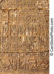 古代, 象形文字, 背景, 手ざわり, エジプト人
