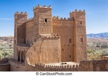 古代, casbah, 建筑物, 摩洛哥
