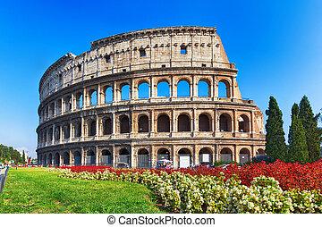 古代, colosseum, 中に, ローマ, イタリア