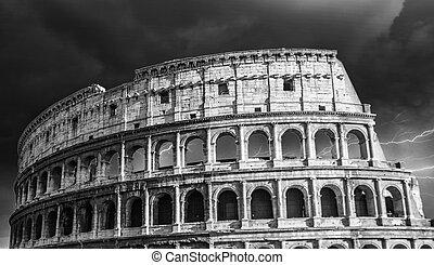 古代, colosseum, 画像的, ローマ