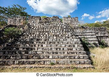古代, ek, mayan, balam, 台なし, 寺院