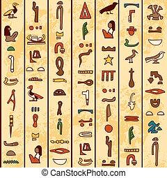 古代, hieroglyphics, エジプト人
