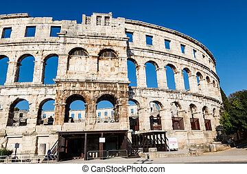 古代, istria, 円形劇場, pula, ローマ人, croatia