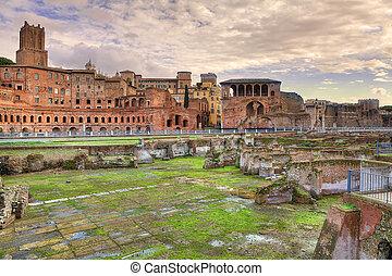 古代, italy., ローマ, ruins.