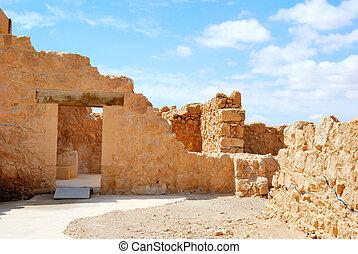 古代, massada, 要塞