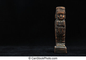 古代, mayan, 像
