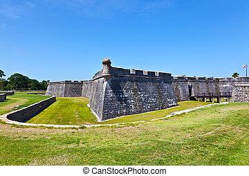 古代, san augustine, -, st. 。, de, フロリダ, marco, castillo, 城砦
