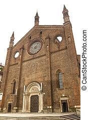 古代, san, francesco, -, 教会, piacenza