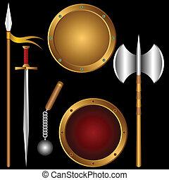 古代, weapons.