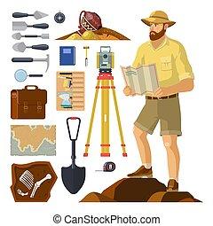 古生物学, 考古学者, 考古学, items.