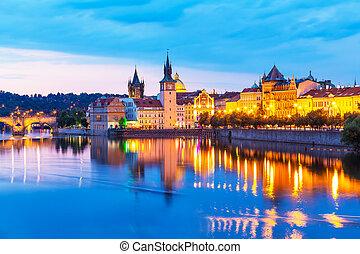 古老的城镇, 在中, 布拉格, 捷克的共和国