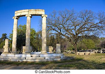 古老, 奧林匹克, 站點, 希臘