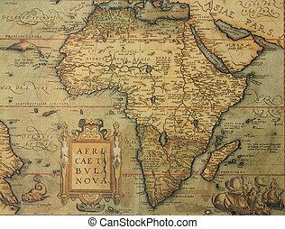 古色古香的地圖, ......的, 非洲