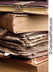 古董, 书, 堆