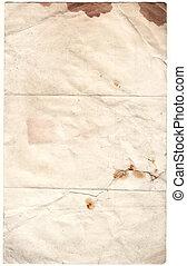 古董, 剪下的资料, 衰败, (inc, 纸, path)