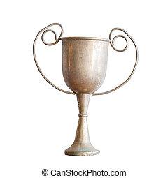 古董, 奖杯, 白色, 隔离, 背景