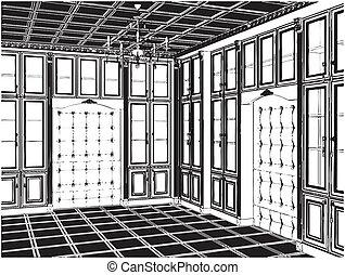 古董, 書櫥, 房間