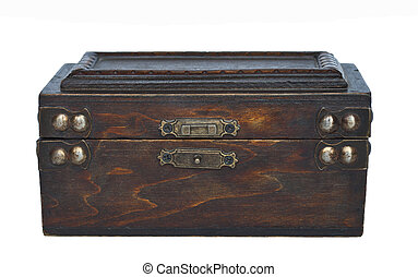 古董, 木制, 白色, 盒子, 隔离