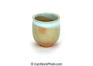 古董, 杯, 茶, 隔离, 背景, 白色