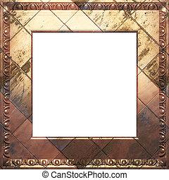 古董, 框架, 金属