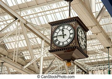 古董, 車站, 鐘