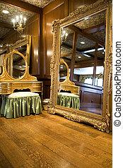 古董, 鏡子, 以及, 化妝師