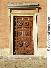 古董, 雕刻, 木制的門