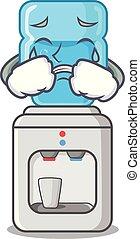 叫ぶこと, 冷却器, プラスチック, 水のビン, 漫画