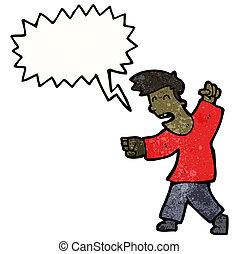 叫ぶこと, 漫画, 人