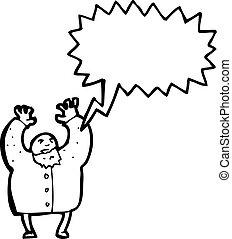 叫ぶこと, 科学者, 漫画, 気違い